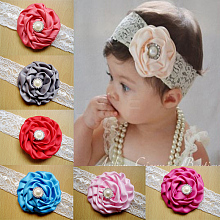 Fashionable Elastic Baby Lace Headbands Hair Accessories OHAR-Q002-18