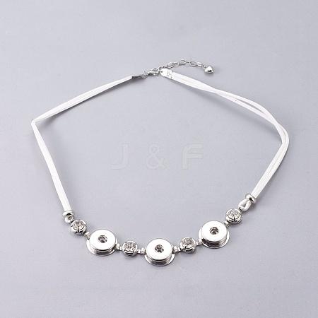 Faux Suede Necklace MakingNJEW-R145-14-1