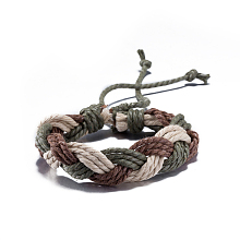 Unisex Adjustable Braided Leather Cord Bracelets BJEW-BB15532