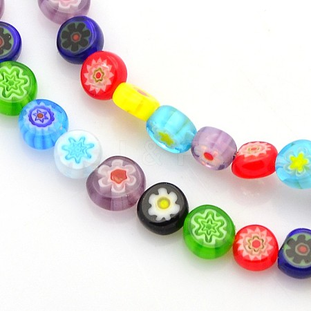 Handmade Millefiori Glass Beads X-LAMP-J033-6mm-M-1