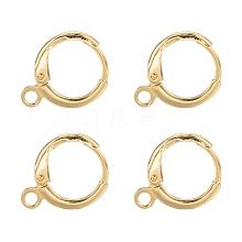 Brass Huggie Hoop Earring Findings KK-L179-04G