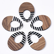 Resin & Walnut Wood Pendants X-RESI-T035-13