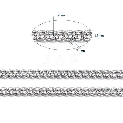 Brass Twisted Chains CHC010Y-NFK-1