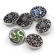 Zinc Alloy Jewelry Snap Buttons X-ALRI-R019-M