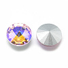 Pointed Back Glass Rhinestone Cabochons RGLA-T021-14mm-01-2