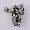 Human Skeleton 316 Stainless Steel Big PendantsSTAS-F103-11A-2