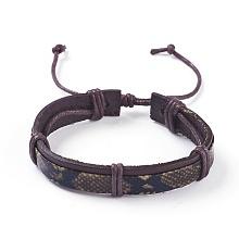 Adjustable Leather Cord Bracelets BJEW-P252-B01