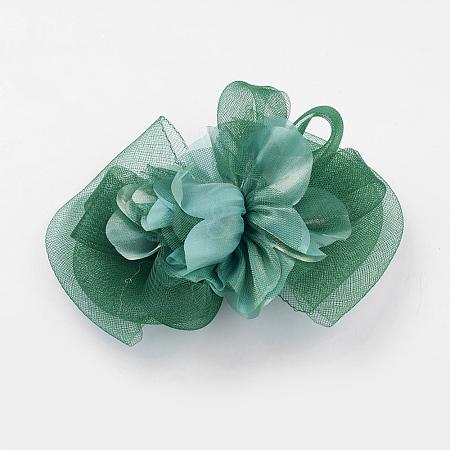 Fascinator Wedding Flower Hair Accessories Iron Alligator Hair ClipsX-OHAR-A001-53H-1