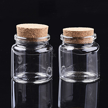 Glass Jar Glass Bottles Bead Containers AJEW-S074-03A