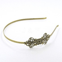 Antique Bronze Iron Hair Band Findings X-OHAR-Q033-AB-NF