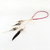 Women's Dyed Feather Braided Suede Cord HeadbandsOHAR-R187-02-1