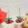 Fashion Earrings for ChristmasX-EJEW-JE00366-01-2