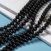 Natural Obsidian Beads StrandsG-K123-06-8mm-6