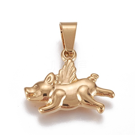304 Stainless Steel Puppy Pendants STAS-L222-32G-1