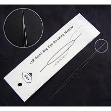 Stainless Steel Big Eye Beading Needles ES001Y-10cm