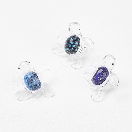 Handmade Dichroic Glass PendantsDICH-X030-M-1
