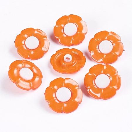 1-Hole Acrylic Shank ButtonsX-BUTT-E069-B-08-1