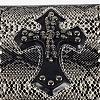 Punk Rock Style Men's Cross with Skull Rivet Studded Snakeskin Pattern Leather WalletsABAG-N004-01-3