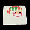 Santa Claus Square  DIY Melty Beads Fuse Beads Sets: Fuse BeadsX-DIY-R040-27-3