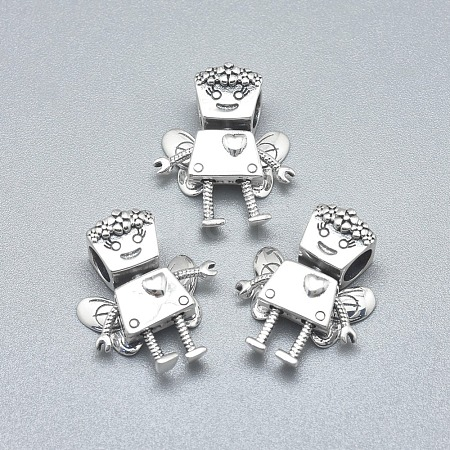 925 Sterling Silver European BeadsSTER-L060-14AS-1