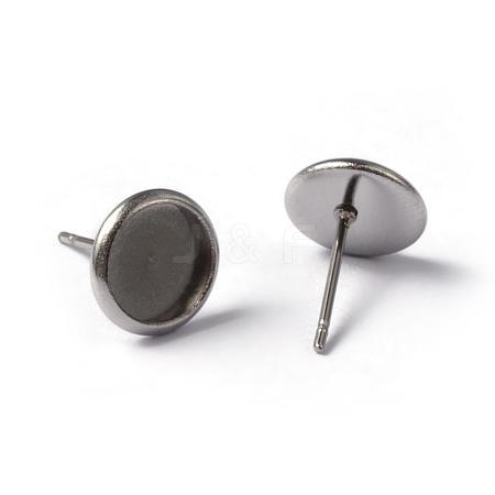 304 Stainless Steel Stud Earring SettingsSTAS-L182-19-1