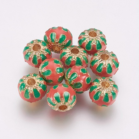 Alloy Enamel Beads PALLOY-G230-52B-1