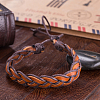 Adjustable Casual Unisex Braided Leather BraceletsBJEW-BB15584-6