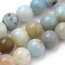 Natural Amazonite Beads Strands G-S259-13-8mm