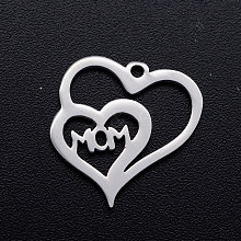 201 Stainless Steel Charms STAS-T046-JN252-1