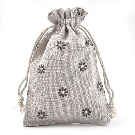 Polycotton(Polyester Cotton) Packing Pouches Drawstring BagsABAG-S004-04A-10x14-1