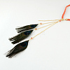 Woman's Dyed Feather Braided Suede Cord HeadbandsOHAR-R184-05-3