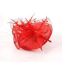 Elegant Red Fascinators UK for Weddings OHAR-S170-01