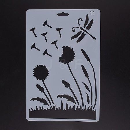 Plastic Drawing Painting Stencils TemplatesDIY-F018-B11-1
