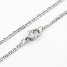 Women's 304 Stainless Steel Twisted Chain Necklaces STAS-O037-58P