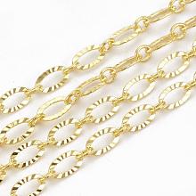 Brass Cross Textured Chains CHC-S004-07G