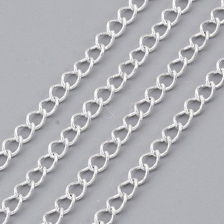 Soldered Brass Curb ChainsCHC-Q001-4x3mm-S-1